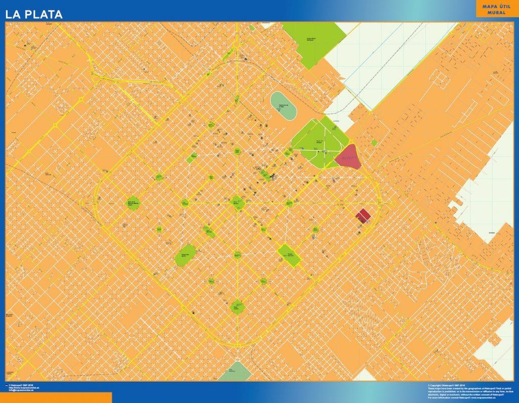Mapa La Plata en Argentina