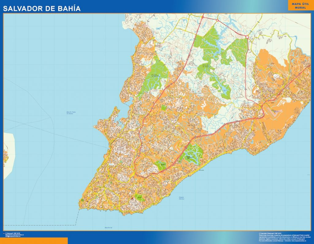 Mapa Salvador Bahia Brasil