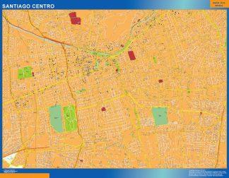 Mapa de Santiago de Chile en Chile