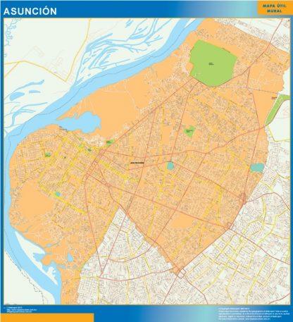 Mapa Asunción gigante