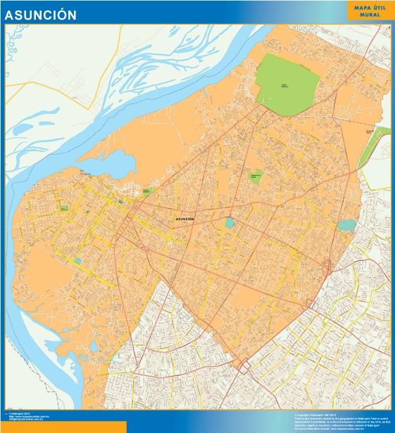 Mapa Asuncion Paraguay