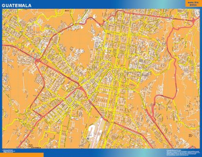 Mapa de Guatemala capital gigante