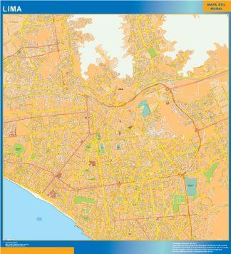 Mapa de Lima gigante