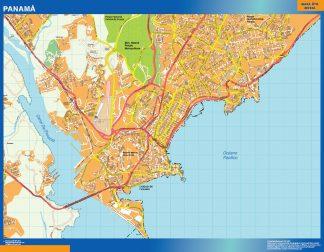 Mapa de Panama City gigante