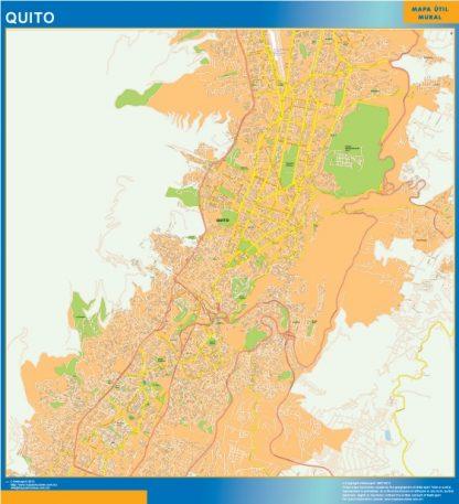 Mapa de Quito gigante