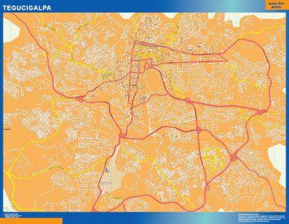 Mapa de Tegucigalpa gigante