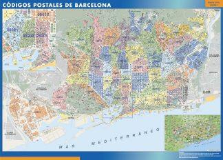 Barcelona códigos postales plastificado gigante