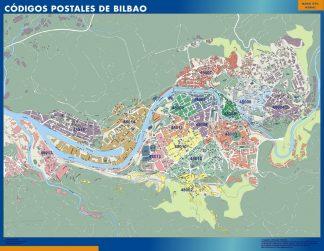 Bilbao códigos postales plastificado gigante