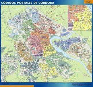 Cordoba códigos postales plastificado gigante