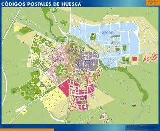 Huesca códigos postales plastificado gigante