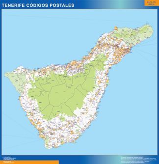 Isla Tenerife códigos postales plastificado gigante