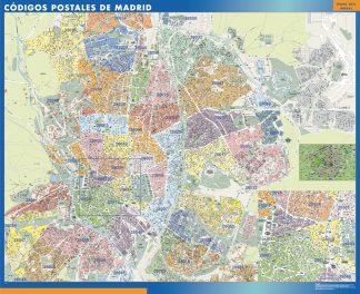 Madrid códigos postales plastificado gigante