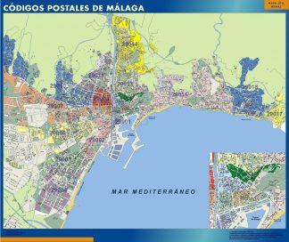 Malaga códigos postales plastificado gigante