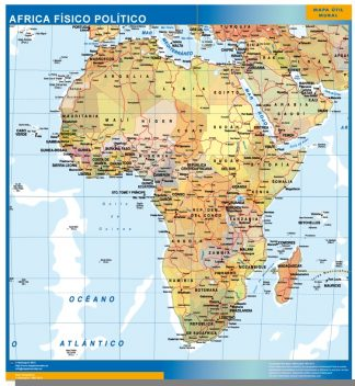Mapa Africa plastificado gigante