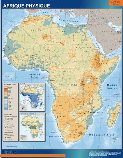 Mapa Africa Fisico plastificado gigante