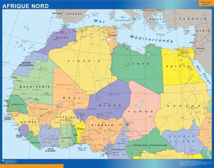 Mapa Africa Norte plastificado gigante