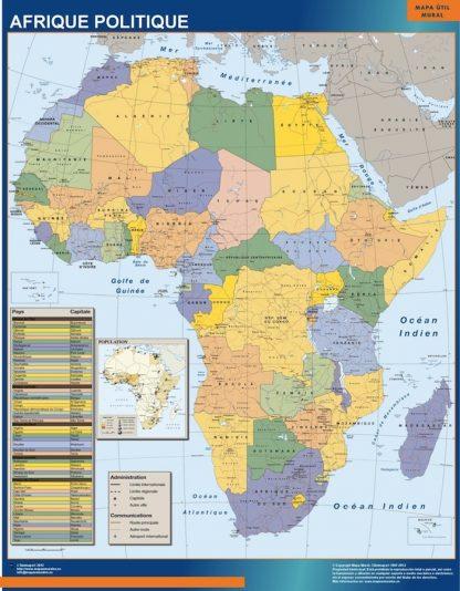 Mapa Africa Politico plastificado gigante