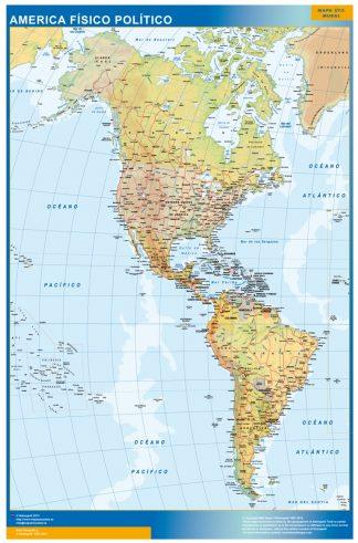 Mapa America plastificado gigante