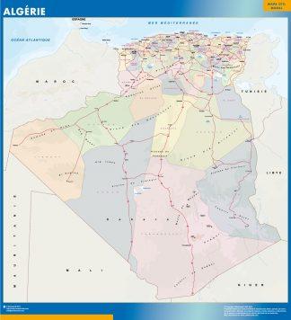 Mapa Argelia plastificado gigante