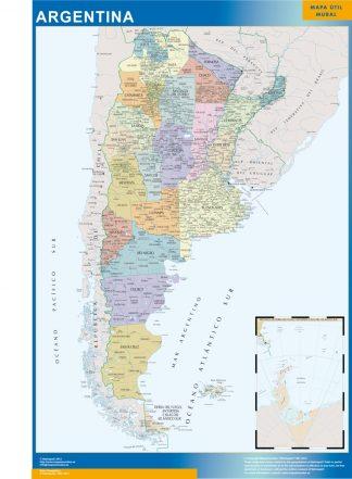 Mapa Argentina plastificado gigante