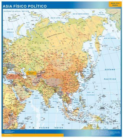 Mapa Asia plastificado gigante