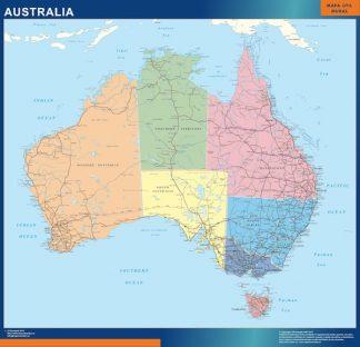 Mapa Australia plastificado gigante