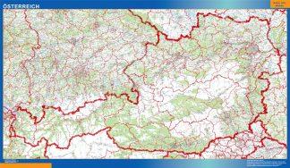 Mapa Austria plastificado gigante