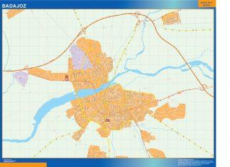 Mapa Badajoz callejero plastificado gigante