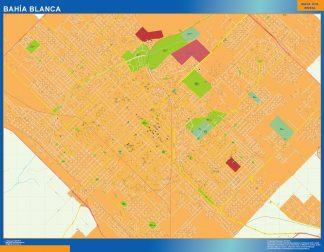 Mapa Bahia Blanca en Argentina plastificado gigante