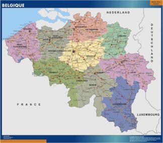 Mapa Belgica plastificado gigante
