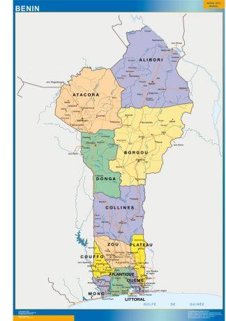 Mapa Benin plastificado gigante