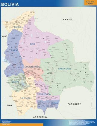 Mapa Bolivia plastificado gigante