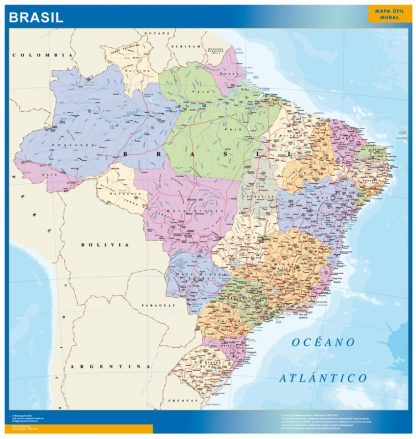 Mapa Brasil plastificado gigante