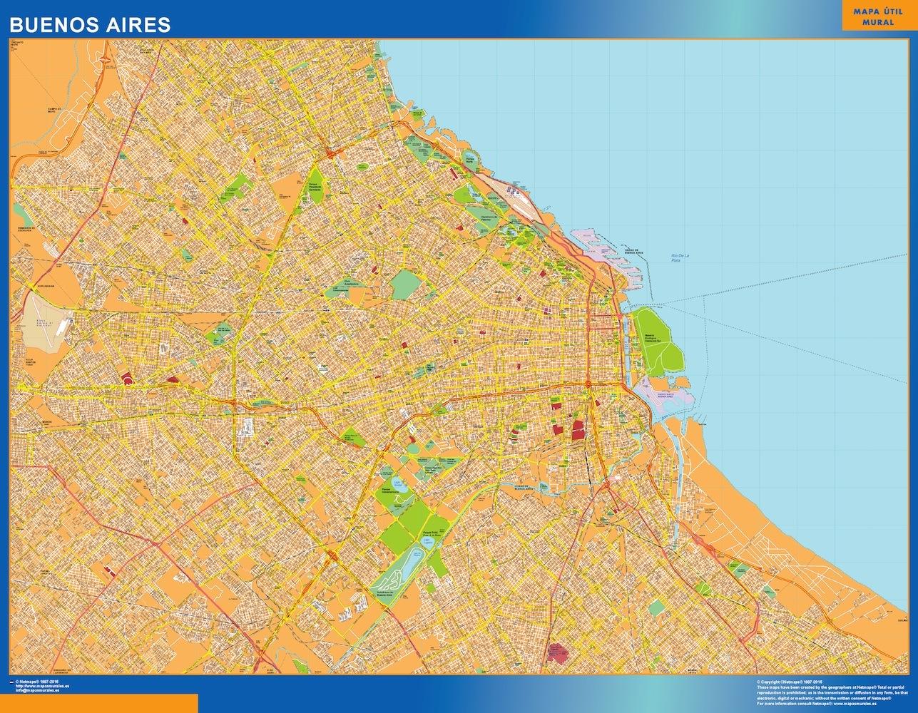 Mapa Buenos Aires en Argentina plastificado gigante