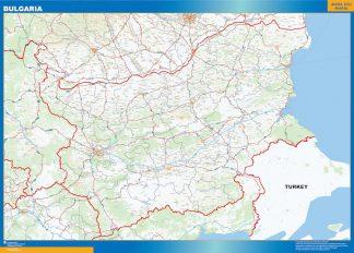 Mapa Bulgaria plastificado gigante