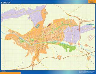 Mapa Burgos callejero plastificado gigante