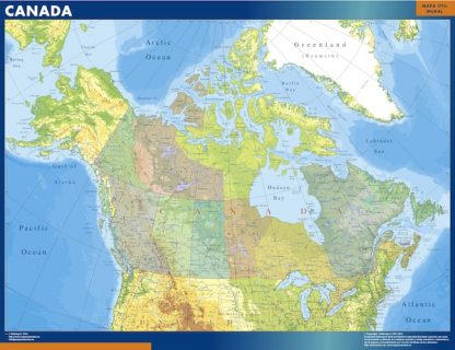 Mapa Canada plastificado gigante