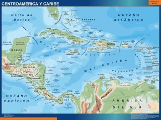 Mapa Centroamerica plastificado gigante