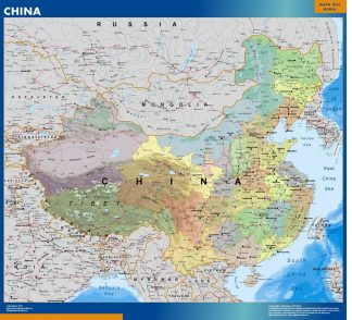 Mapa China plastificado gigante