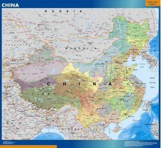 Mapa China plastificado gigante