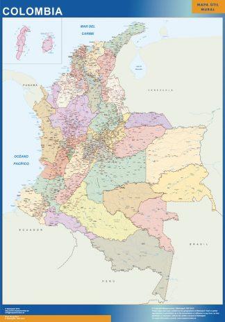 Mapa Colombia plastificado gigante