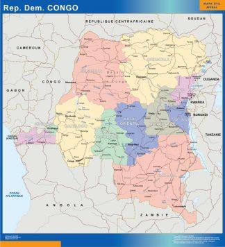 Mapa Congo plastificado gigante