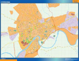 Mapa Cordoba callejero plastificado gigante