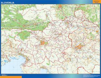 Mapa Eslovenia plastificado gigante