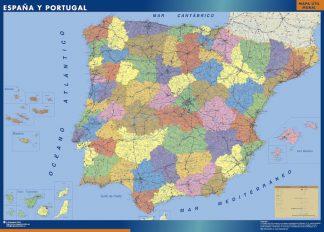 Mapa Espana Provincial plastificado gigante