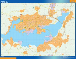 Mapa Ferrol callejero plastificado gigante