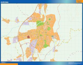 Mapa Girona callejero plastificado gigante