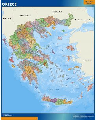 Mapa Grecia plastificado gigante