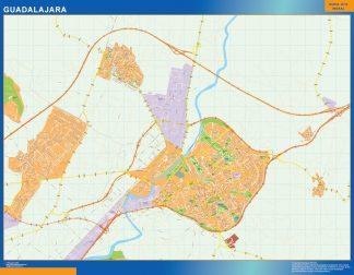 Mapa Guadalajara callejero plastificado gigante