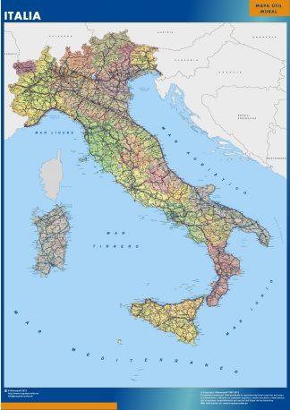 Mapa Italia plastificado plastificado gigante